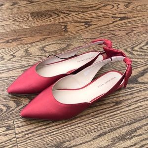 Who What Wear NWT Red Sling Back Flats. Size 10.